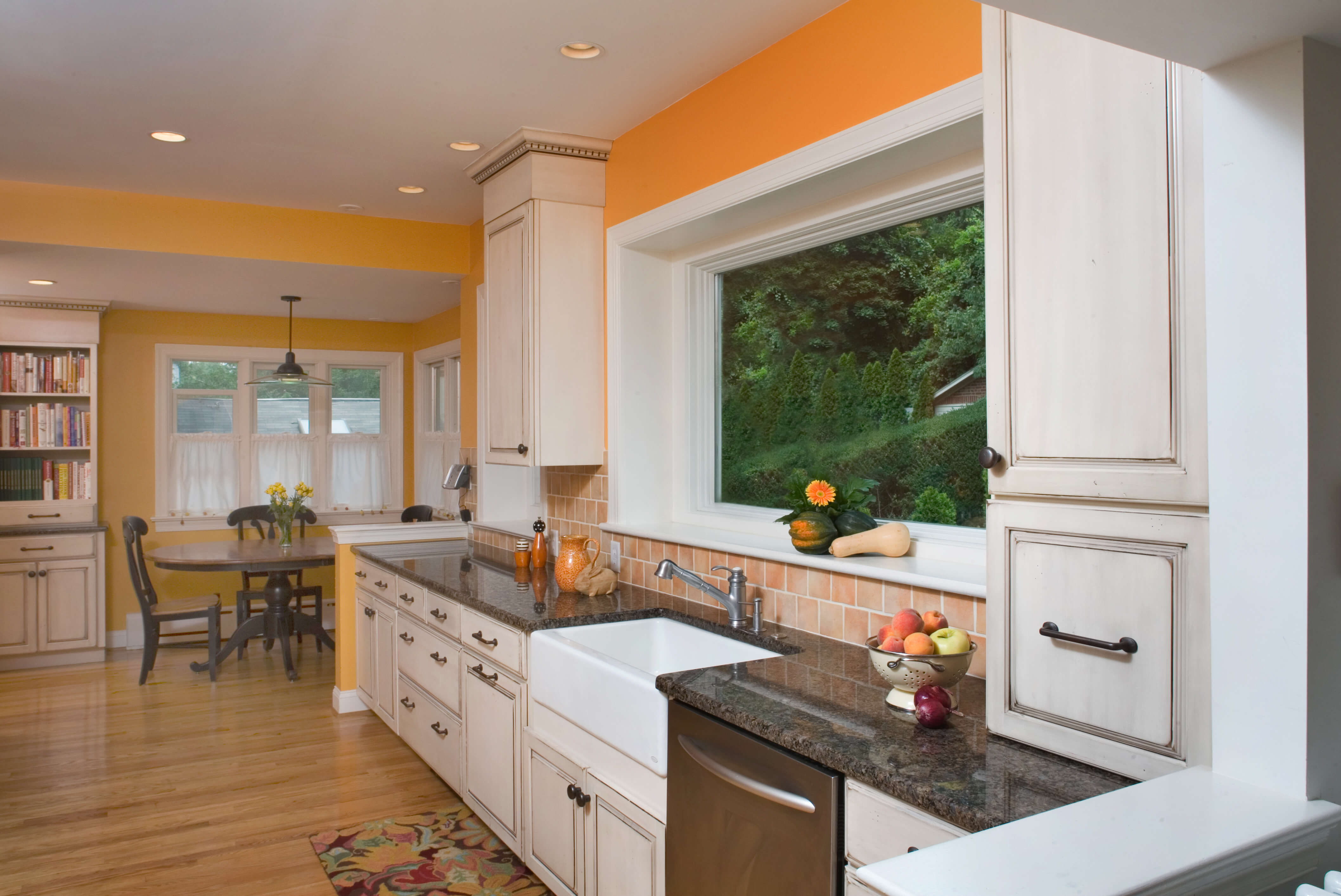 Elkins Park, PA Kitchen Remodel with Yellow Accents